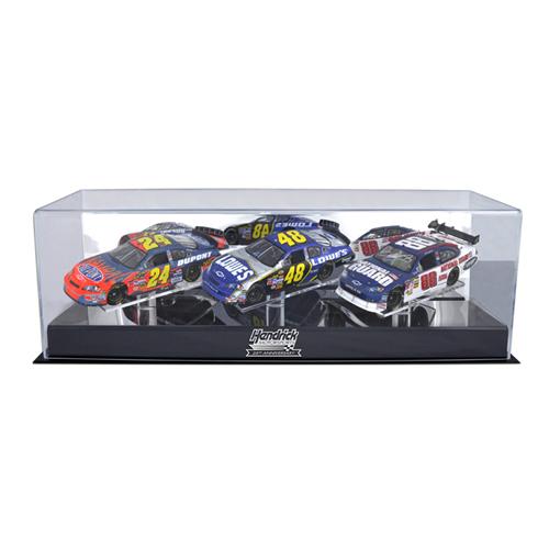 NASCAR 1/24th Scale Die Cast Three Car Display Case w/ Platform