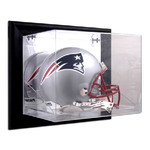 5b11fd54 Black Framed Wall Mounted Helmet Display Case with NFL Team Logo