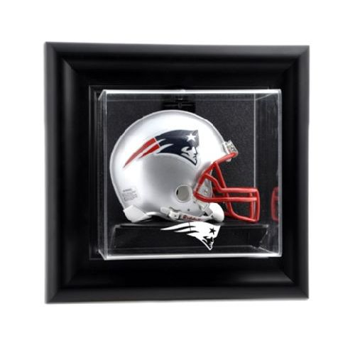 e39bbdaf Black Framed Wall Mounted Mini Helmet Display Case with NFL Team Logo