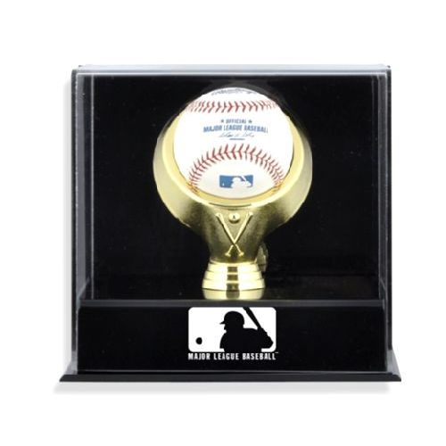 Wall Mounted Single Ball Display Case with MLB Team Logo