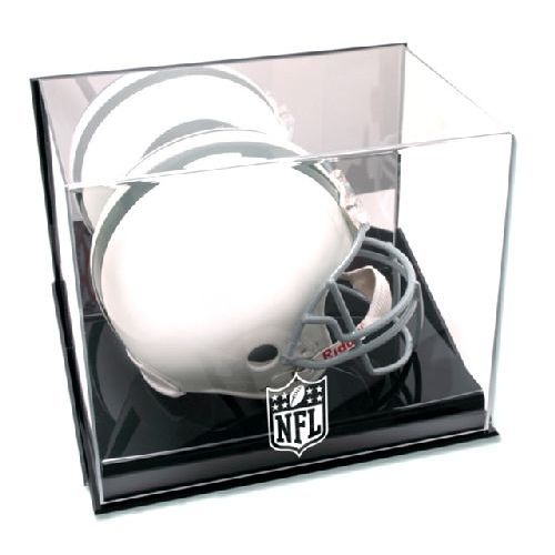 1b8312f9 Wall Mounted Helmet Display Case with NFL Team Logo