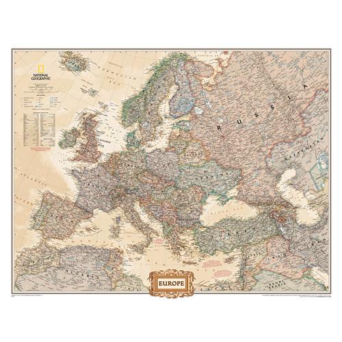 Europe Executive Wall Maps