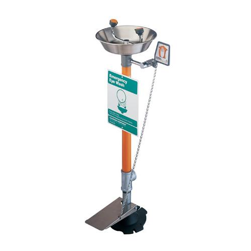 Pedestal Mounted Eyewash - Stainless Steel Bowl