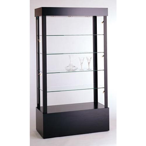 GL1 Wood Veneer Rectangular Open Display Case