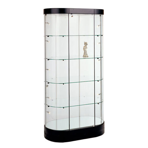GL122 Oval Tower Display Case