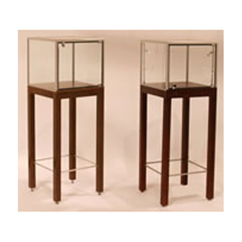 GL132 Square Pedestal Display Case with Legs