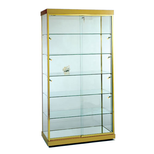GL5 Wood Veneer Rectangular Wall Display Case