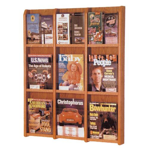 Oak & Acrylic Wall Rack