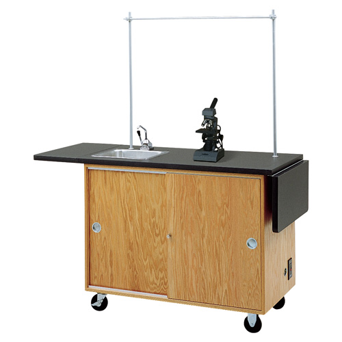 Mobile Lab Workstation with Folding Extensions