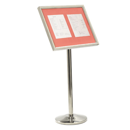Single Pedestal Menu Stands