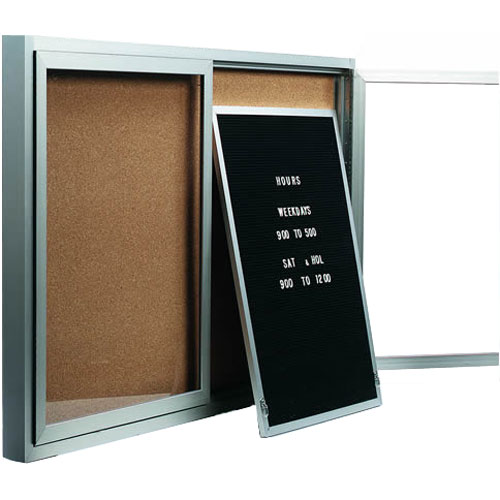 Removable Letter Panels for Enclosed Bulletin Boards