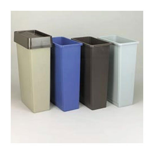 Slim Jim Waste Containers and Trolley System