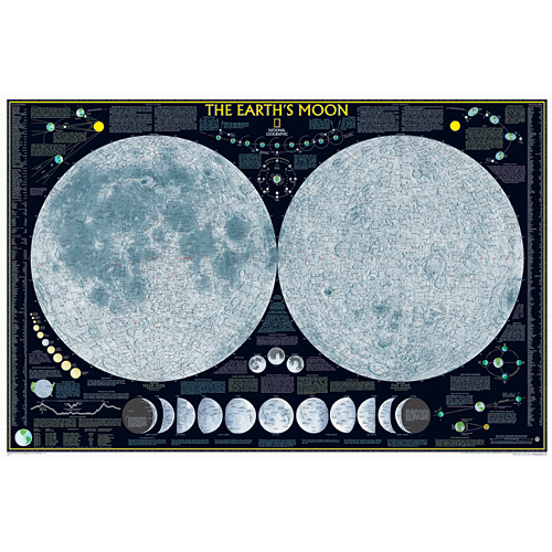 The Moon Wall Map - Space