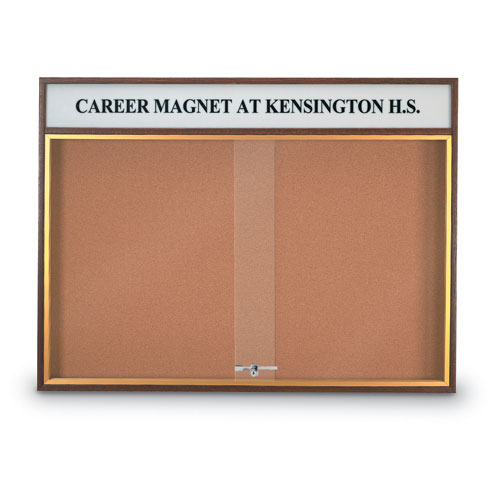 Wood Sliding Door Corkboards with Header