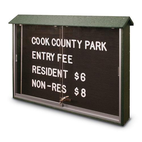 Sliding Door Letterboard Message Centers