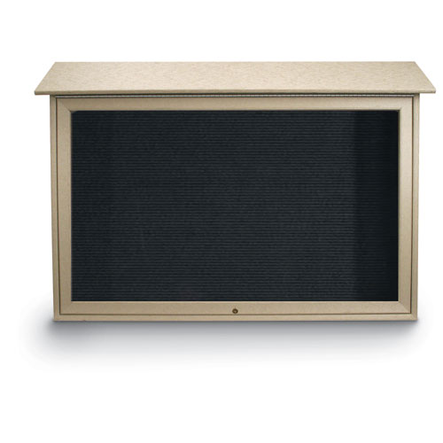 Top-Hinged Single Door Letterboard Message Centers