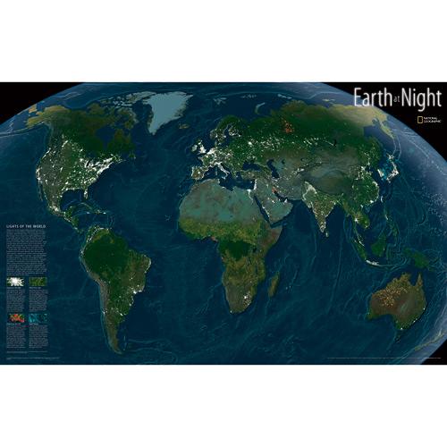Wall Maps - Earth at Night