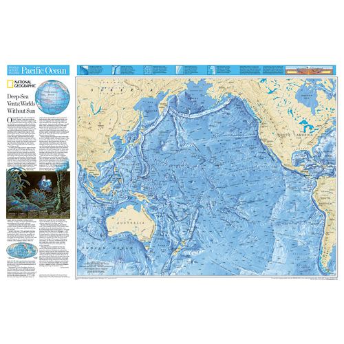 Wall Maps - Ocean Floor