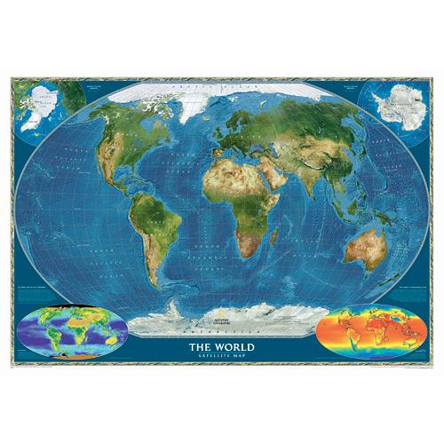 Wall Maps - Satellite