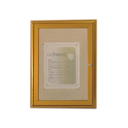 Waterfall Frame Enclosed Bulletin Board