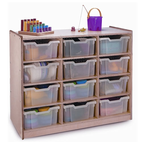 Clear-Tray Storage Cabinets