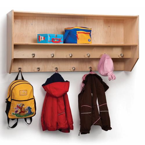 Double Row Wall-Mount Coat Rack