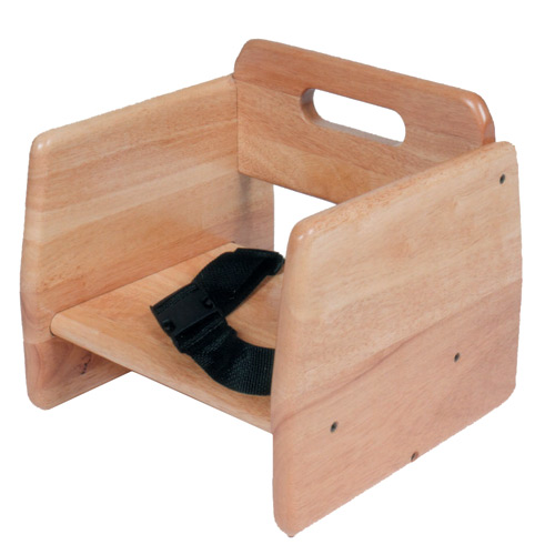 Wood Booster Seat with Seat Belt
