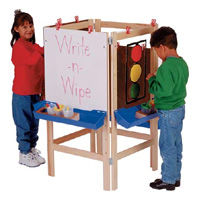 Multi-Station Adjustable Easels