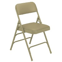 1300 Series Premium Triple-Brace Vinyl-Covered Folding Chair