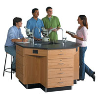 8-Sided Science Lab Workstations