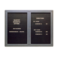 Quartet® Radius Design Magnetic Changeable Letter Directories