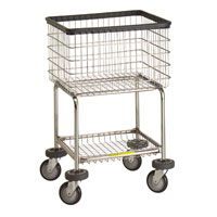 Deluxe Elevated Laundry Cart