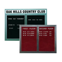Outdoor Enclosed Aluminum Changeable Letter Boards