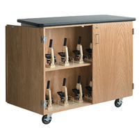 Mobile Microscope Storage Cabinet