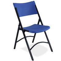 All American Colors Blow-Molded Folding Chairs