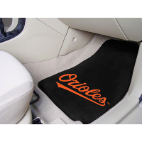 MLB 2-PC Printed Carpet Car Mat Set