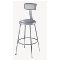 6400 Series Adjustable Heavy-Duty Steel Padded Lab Stool