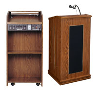 Full Size - Prestige Floor Lectern - SOUND
