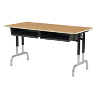 7900 Series Adjustable Height 2-Student Desk
