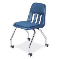 9000 Classic Series™ Padded 4-Leg Mobile Chair