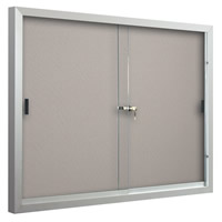 Standard Bulletin Board Cabinets with Sliding Door