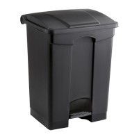 Large Capacity Plastic Step-on Waste Receptacle