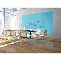 Aria Low Profile Colored Glass Dry Erase Board
