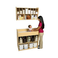 Value Line Changing Table and Overhead Diaper Storage
