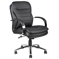 Mid Back CaressoftPlus™ Exec. Chair w/Chrome Base