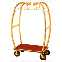 Curved Upright Bellman's Luggage Cart