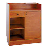 CC100 Wood Veneer Cash Wrap Cabinet