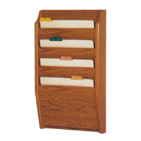 Oak Chart & File Rack