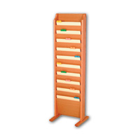 Free Standing Oak Chart & File Rack