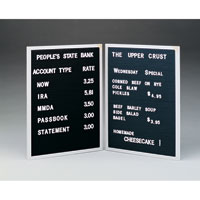 Open Face Changeable Letter Boards
